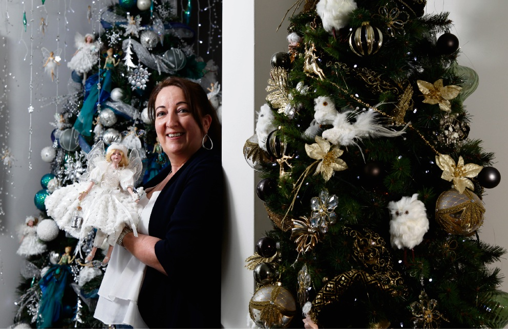 Perth's Mrs Christmas makes tree-mendous decorating effort