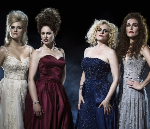Lucy Durack, Amanda Harrison, Helen Dallimore and Jemma Rix are the Witches coming to Joondalup.