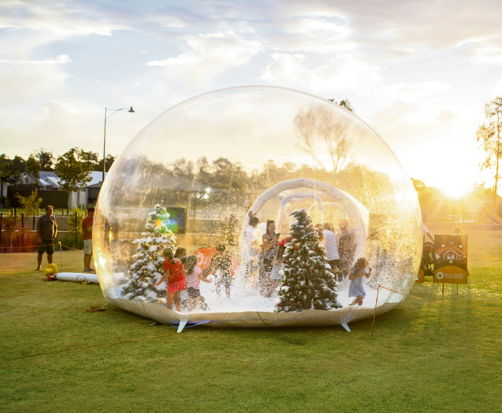There will be a giant snow globe at the Brightwood Christmas event.