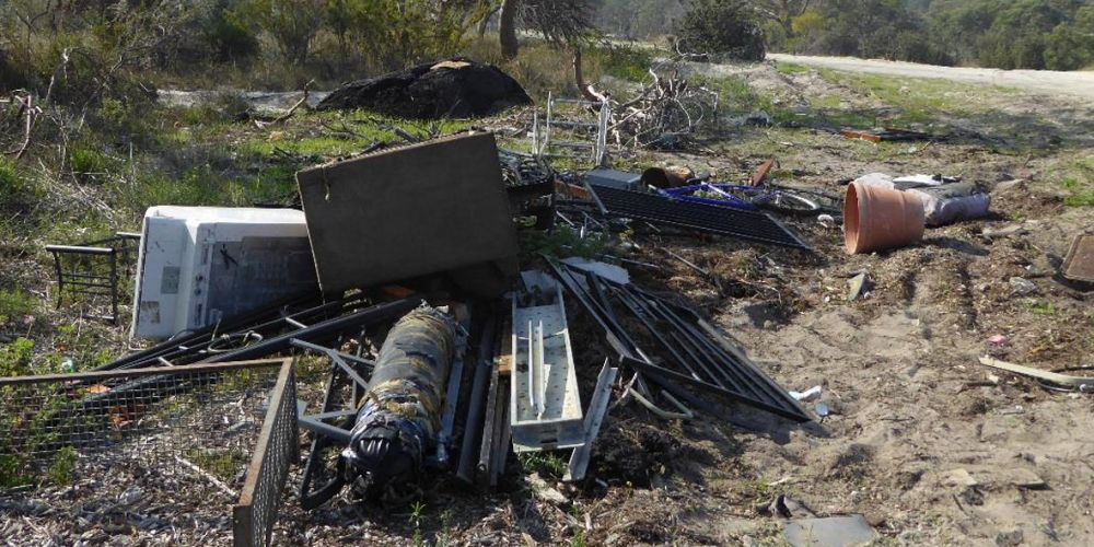The illegal dumping. Picture: Department of Water and Environmental Regulation.