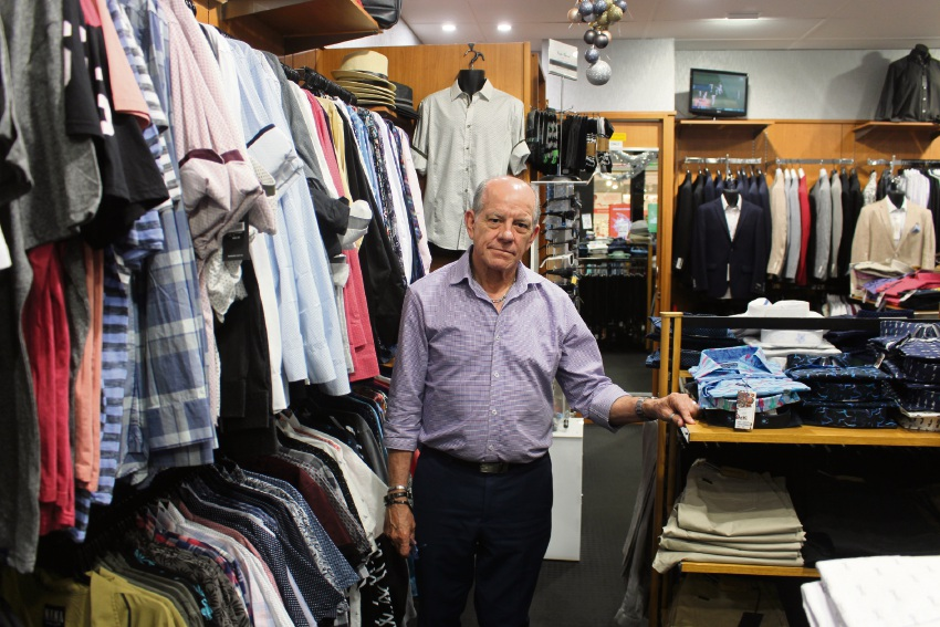 Dakz Menswear owner Wayne Hayes is concerned about the impact of Amazon on small businesses.