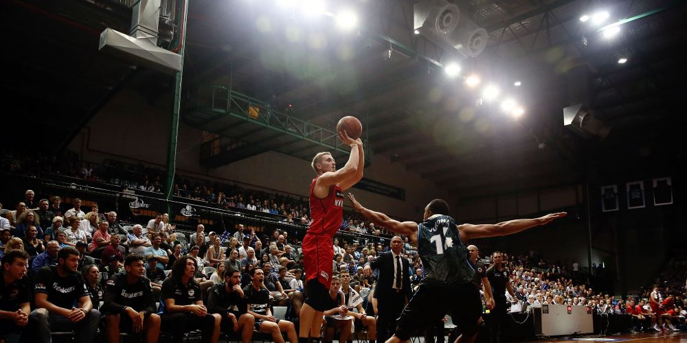 Jesse Wagstaff impressed outside the three-point line against New Zealand. Picture: Getty Images