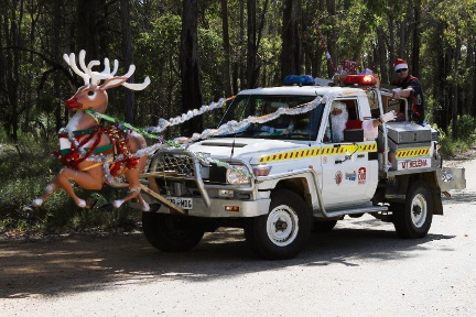 Mt Helena Voluntary Bush Fire Brigade will escort Santa on his Christmas Day delivery.