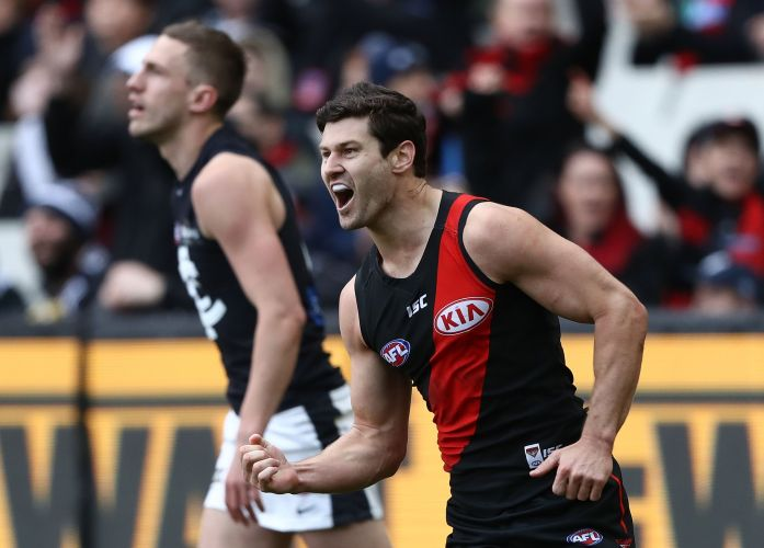 Ben Howlett during the round 20 AFL match between Essendon Carlton. Picture: Robert Cianflone/Getty Images