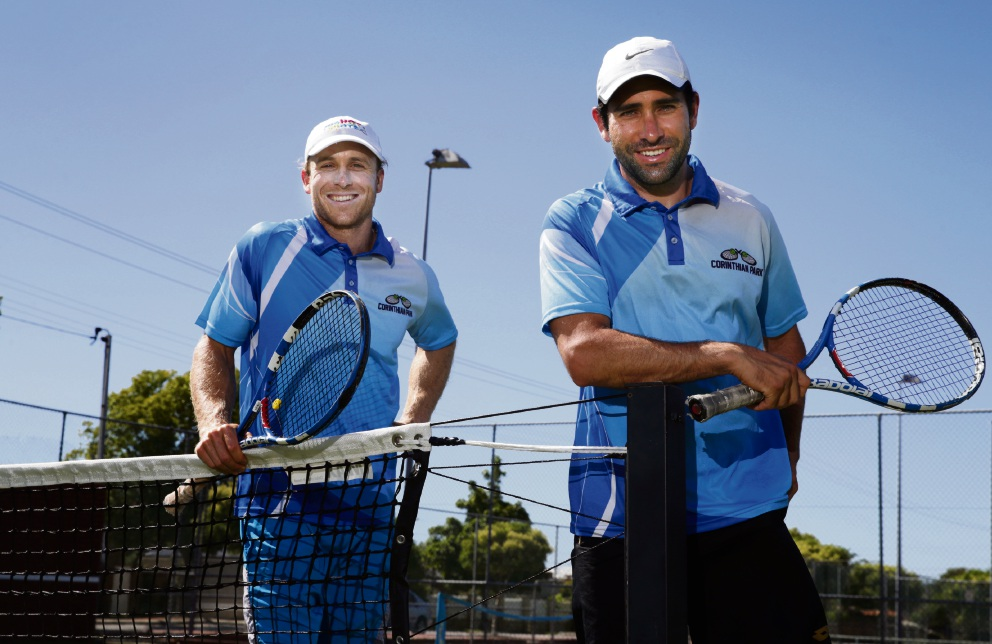 Tennis coaches Nathan Nelmes and Laercio Lobo. Picture: Martin Kennealey www.communitypix.com.au d477237