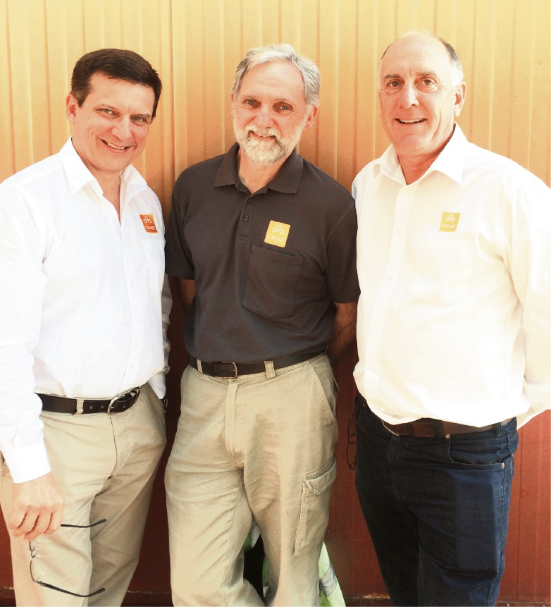 C-Wise chief executive Andrew Maiden, and co-owners Andy Gulliver and Dave Cullen.