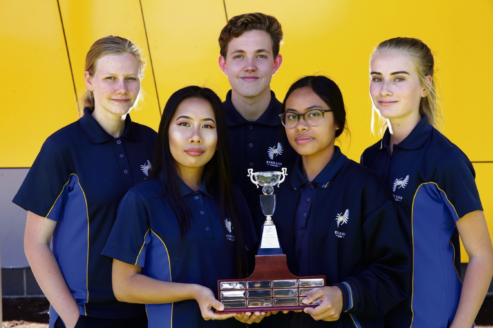 Elyssa Backshall, Jocelyn Yao, Tyler Kimber, Dina Jamal and Hayley Mack. Picture: Martin Kennealey d477417