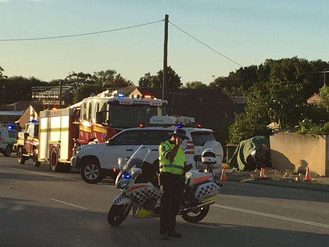 A man has died in a fatal crash in Tuart Hill. Picture: Justin Bianchini.