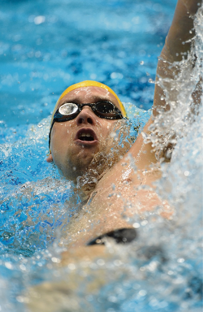 Jeremy McClure in the men's 100m backstroke at the London 2012 Paralympic Games. Picture: Christopher Lee/Getty Images