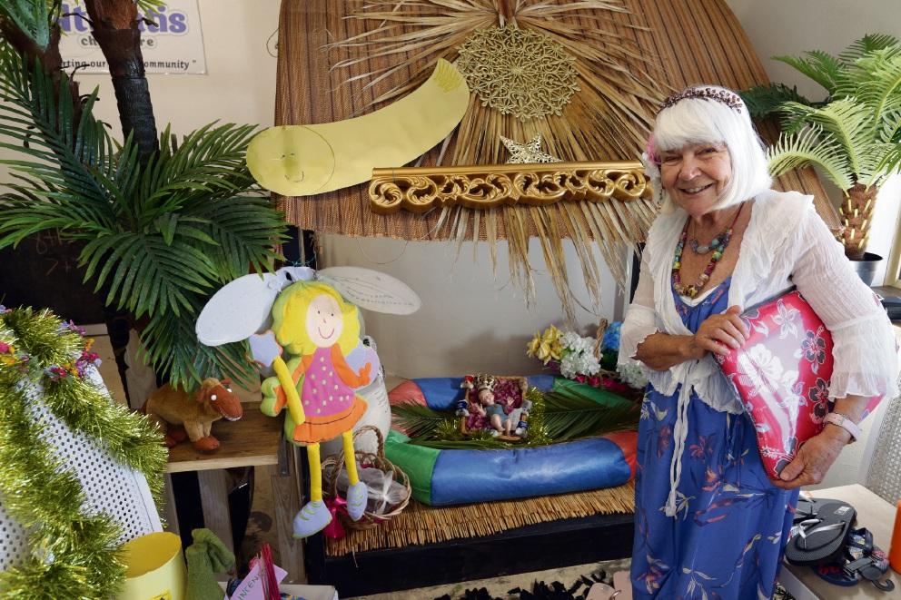 Elena Lumsdaine of Yanchep with her nativity scene. Picture: Martin Kennealey d477288