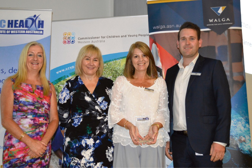 Wanneroo Mayor Tracey Roberts and community and place director Debbie Terelinck with Karen Dales-Handerson and Luke Middleton.