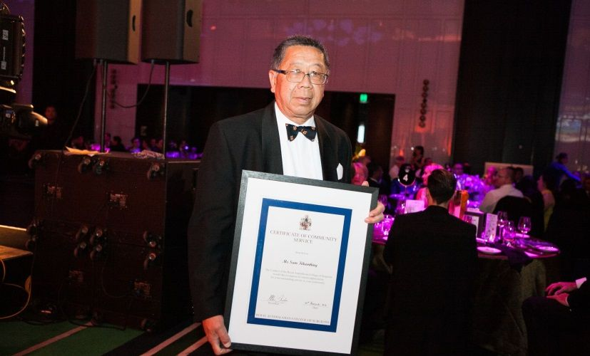 Srisongham Khamhing was honoured at the Royal Australasian College of Surgeons Outstanding Service to the Community Awards.