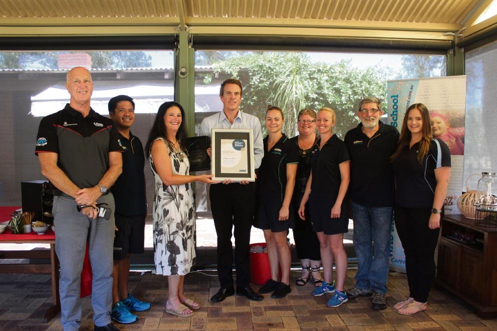 Forrestdale's Seadragonz Swim School has taken out a Royal Life Saving Society Australia award.
