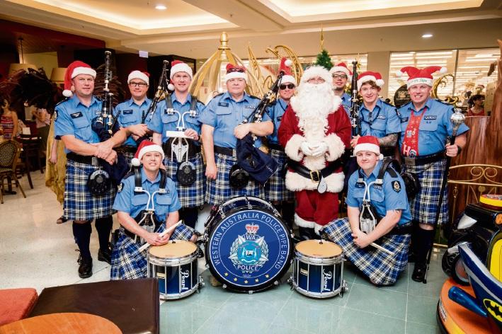 WA Police Pipe Band.