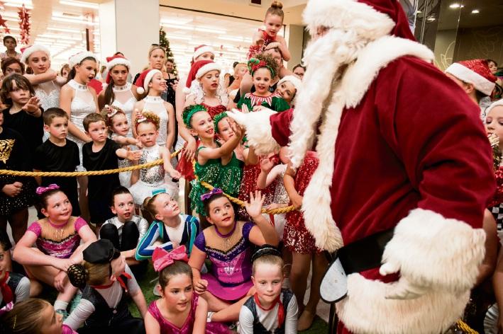 Santa meets children at the centre.