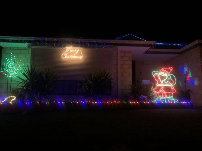 the christmas lights that were stolen from sarah tomass wannanup home - Grinch Stealing Christmas Lights