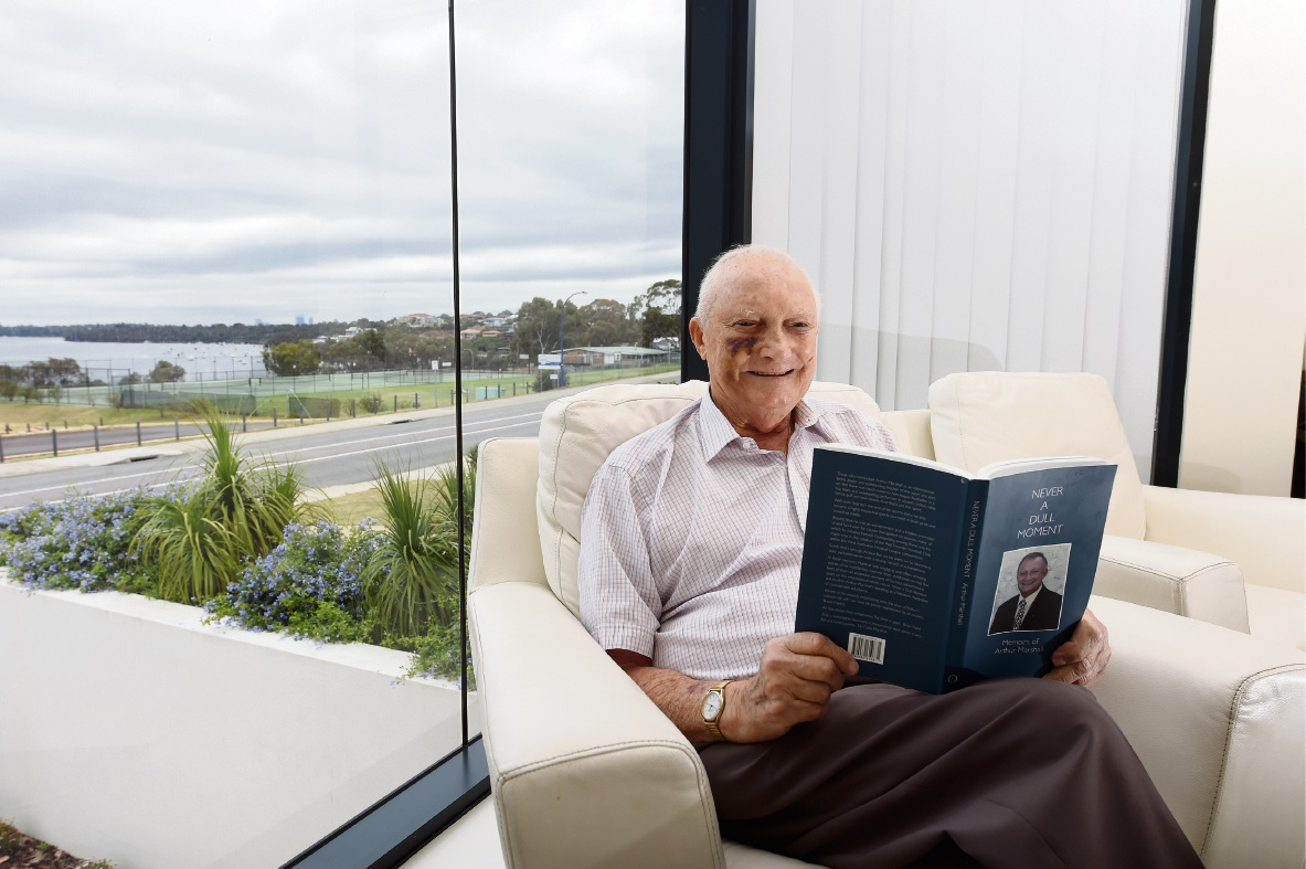 Arthur Marshall has launched his memoir on life, tennis and politics.  Picture: Jon Hewson   d477212