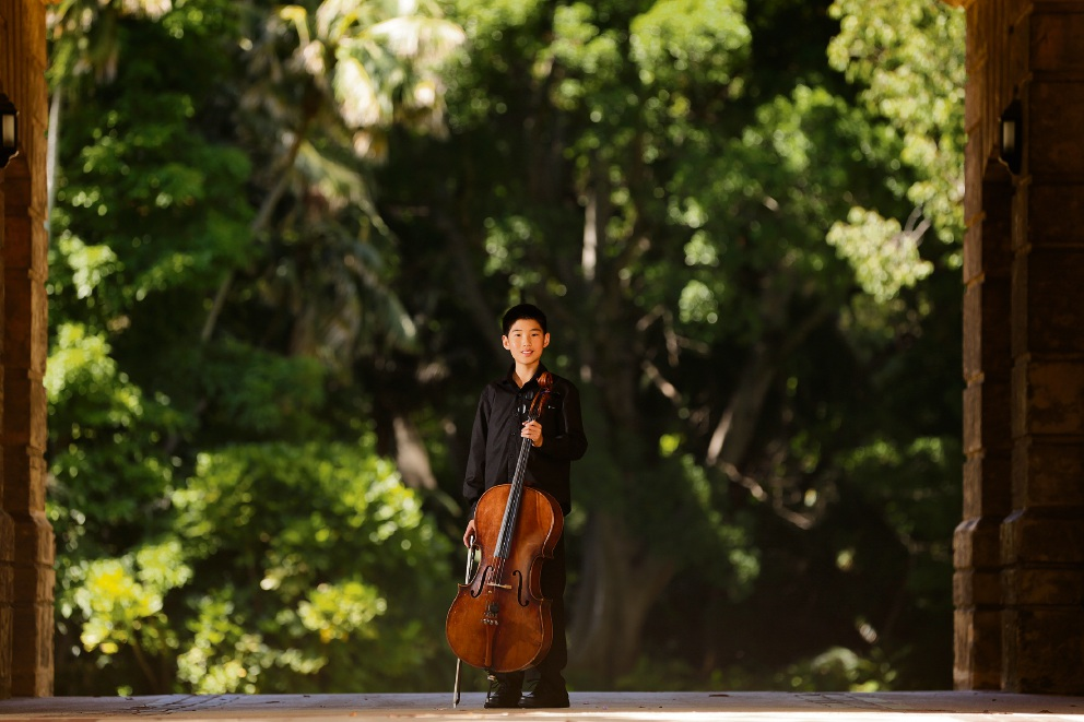 12-year-old Max Wung will be performing with the Vienna Pops orchestra on New Year's Eve at Winthrop Hall. Picture: Andrew Ritchie www.communitypix.com.au d477228