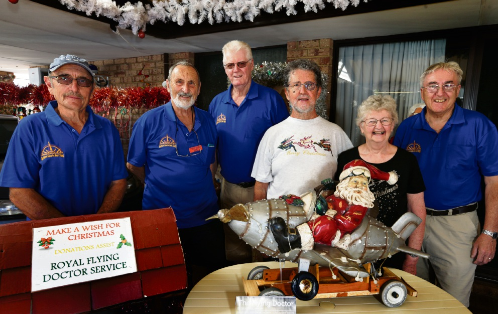 John and Sheila Ramsbottom (Woodvale) with Northern Suburbs Men's Shed members John Corbett, John Martin, Peter Nevill and John Norman. Picture: Martin Kennealey d477565