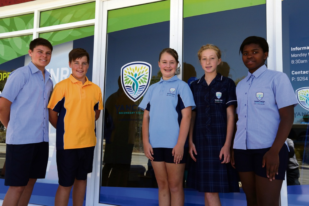 Kye McLean, Riley Tink, Bethany Brazic, Tayla Walker and Annemie Lourens. Picture: Martin Kennealey d477158