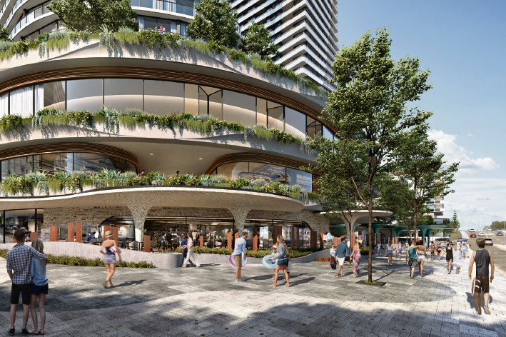 Artist impression of the ground floors of the Iconic Scarborough development.