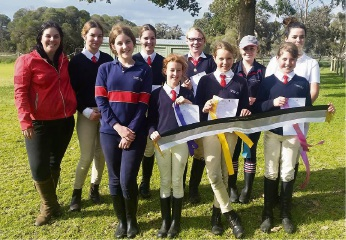Pinjarra Horse and Pony club members at the 2016 West Coastal Zone Challenge Cup.