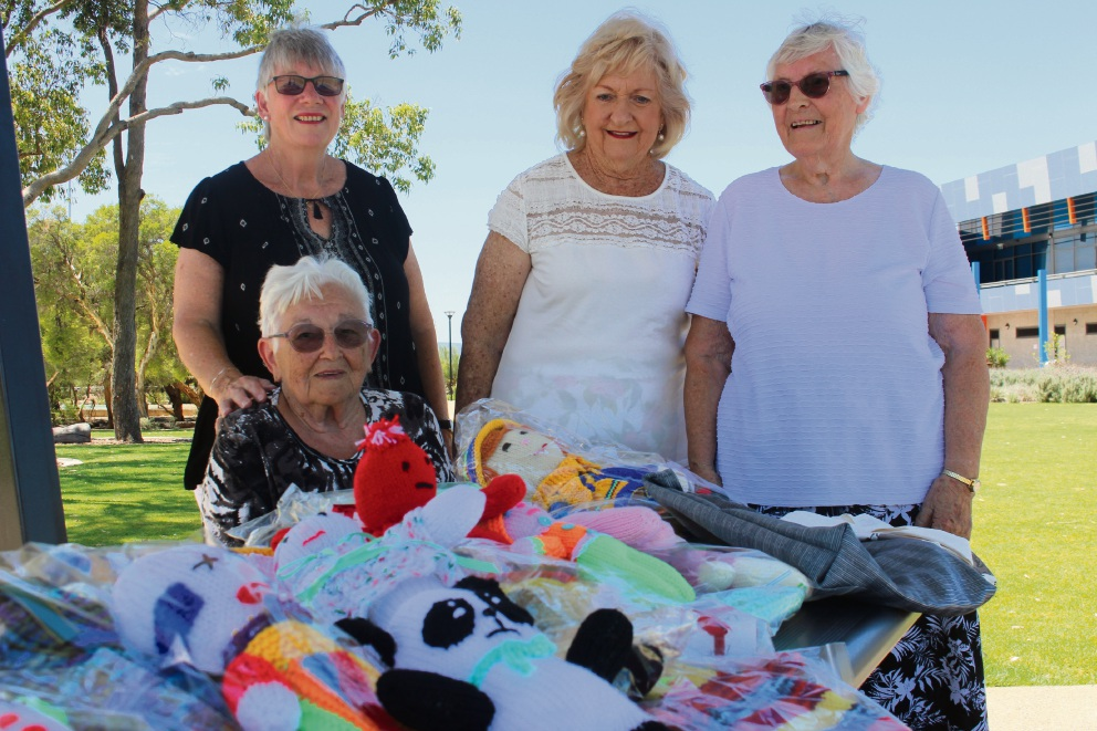 Janet Spring (sitting) with fellow Perth Basket Brigade volunteers Beryl Lane, left, Pam Key and Nancy Moller.