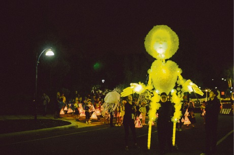 The 2017 twilight lantern parade as part of the Joondalup Festival.