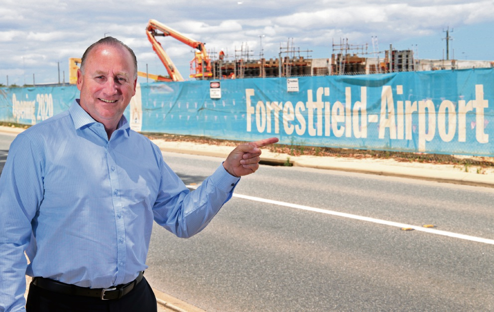 Federal Member for Swan Steve Irons has called on the WA Transport Minister to undertake community consultation regarding the name of the Forrestfield Train Station. Picture: David Baylis d477636