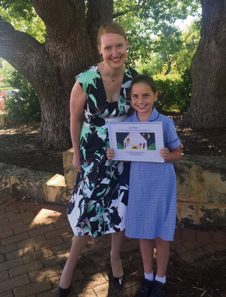 Donna Faragher MLC pictured with one of this year's winners Amelia Allingame.