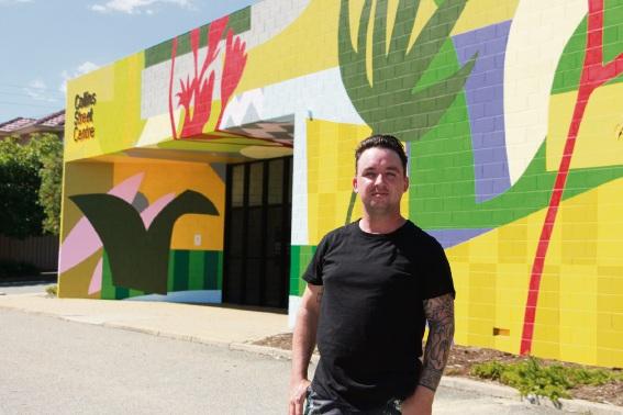 Artist Simon Degroot.