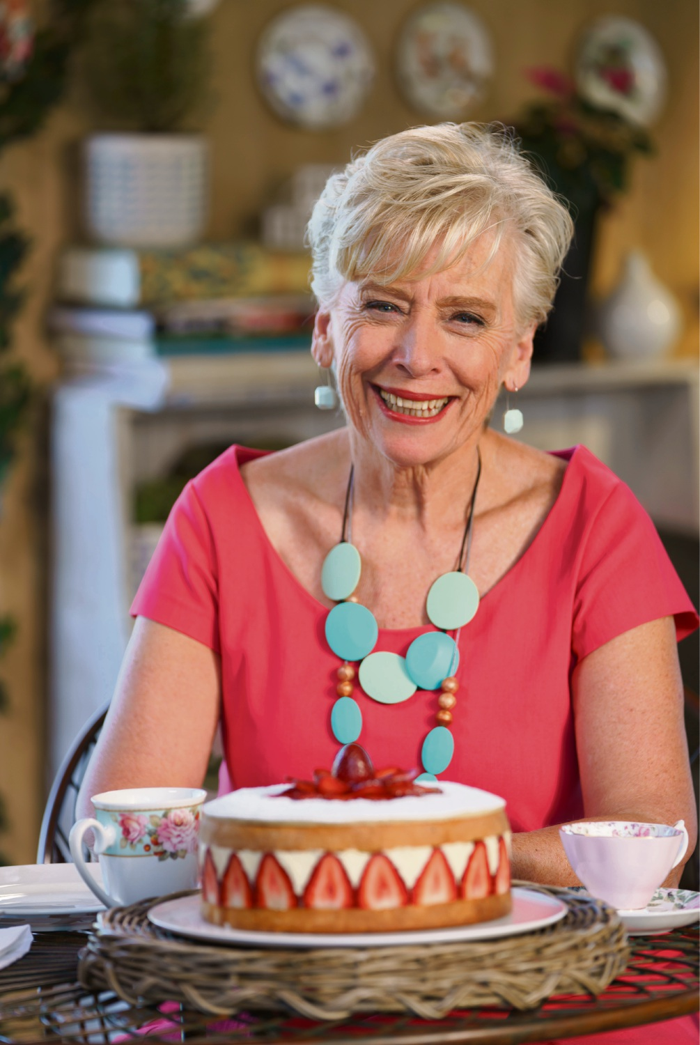 Culinary icon Maggie Beer said people hosting a Christmas feast should prepare food in advance for a stress-free celebration. She returns as a judge in the third season of the Great Australian Bake Off, which airs on Foxtel's Lifestyle channel from January 18.