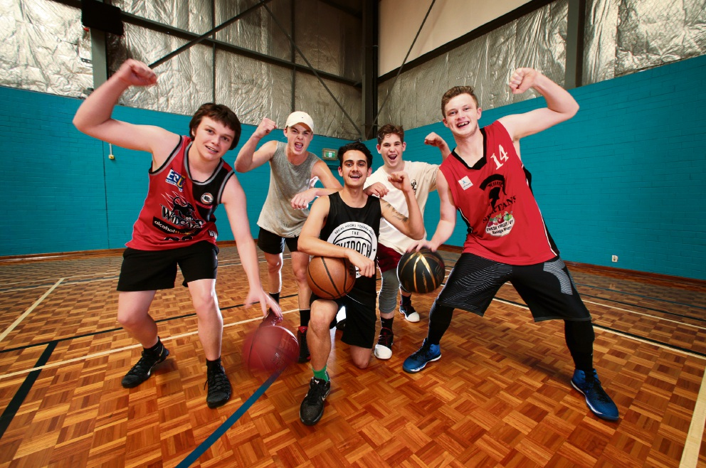 L-R: Jarrad Warne of Midland, Ryley Hendriks of Caversham, Coby Freeman of Helena Valley (Club President), Oscar Gray of Woodbridge and Josh Battle of Gooseberry Hill.  Spartans Basketball Club won Club of the Year at the City of Swan Blue Ribbon Club Awards. Picture: David Baylis www.communitypix.com.au   d477752