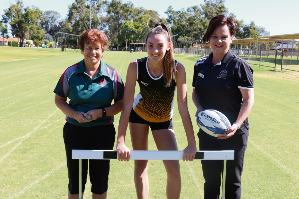 Champions all: Bayswater Lacrosse Club finance director Carole Bowland, Noranda athlete of the year Tanika Lockley and Perth Bayswater Rugby Union junior treasurer Joanne Langley.