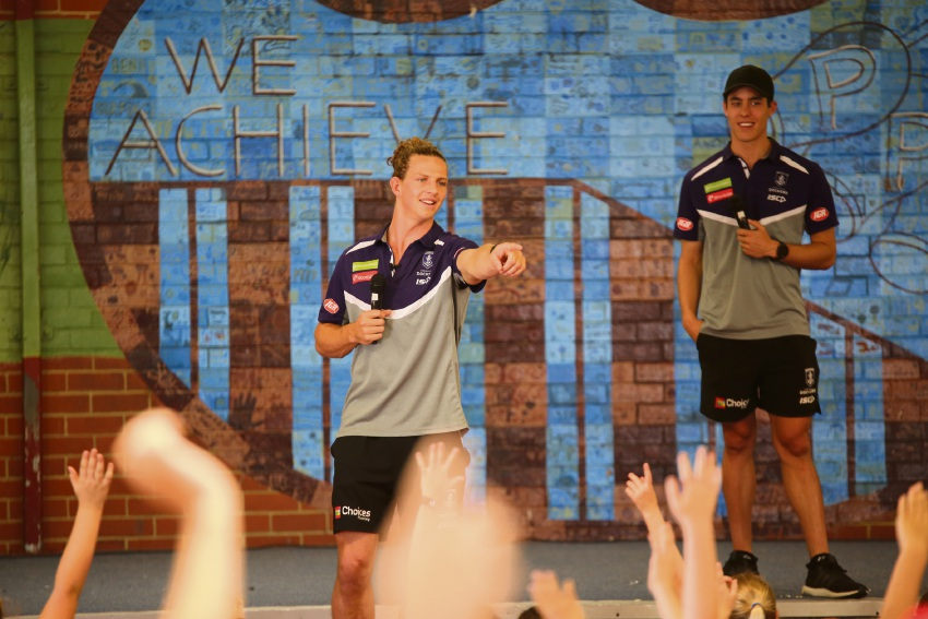 Dockers visit Makybe Rise Primary School