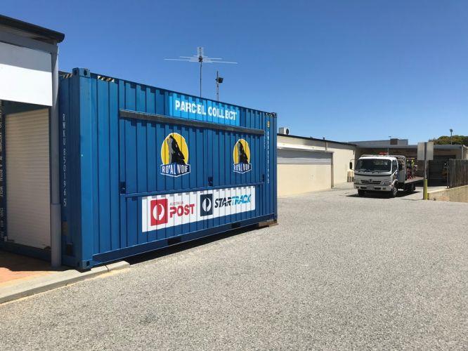 The drive-thru parcel collection centre. Photo: Australia Post