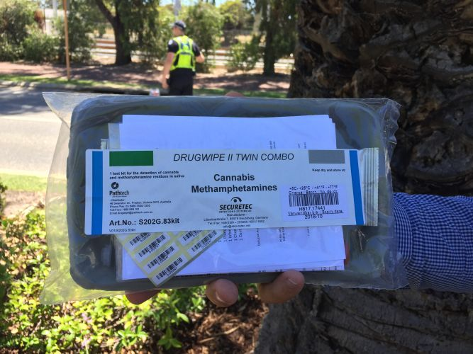 The new drug testing kit rolled out to WA Police.
