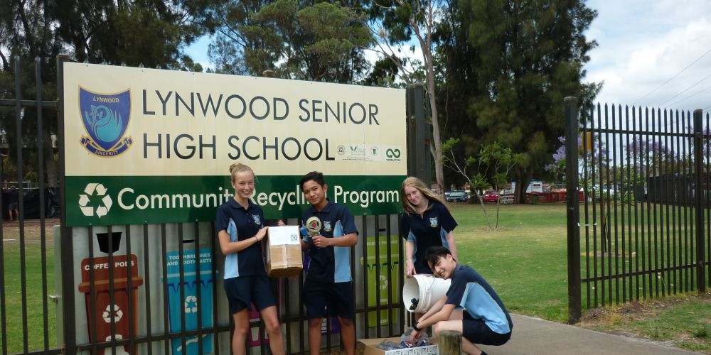 Lynwood SHS students recycled more than 35,000 coffee pods.