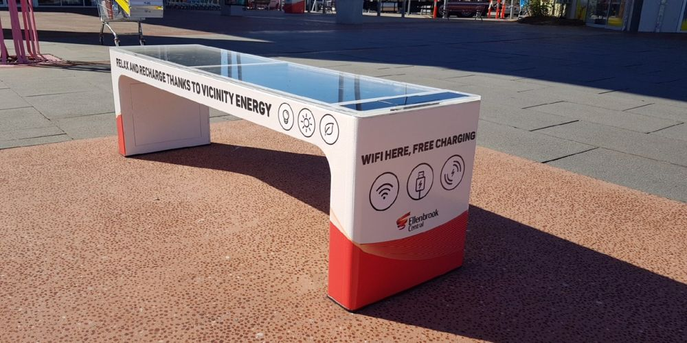 Smart bench set to charge Ellenbrook Shopping Centre