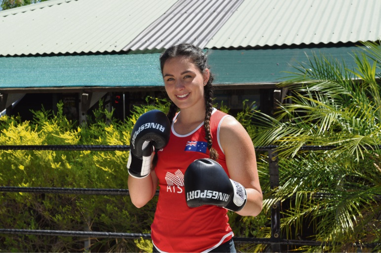 Caitlin Parker, WA's first athlete to be selected for the Commonwealth Games, at her gym in Gosnells.