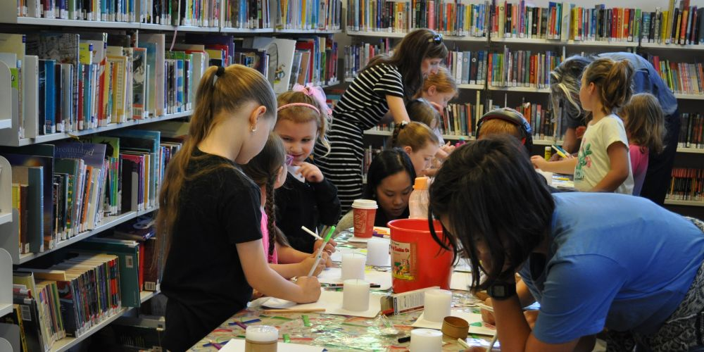 Children at the workshop at Mundaring Library.