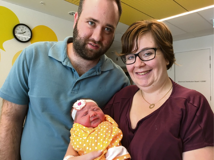 Aveley couple Tahnee and Joshua Thompson with daughter Keira Grace.