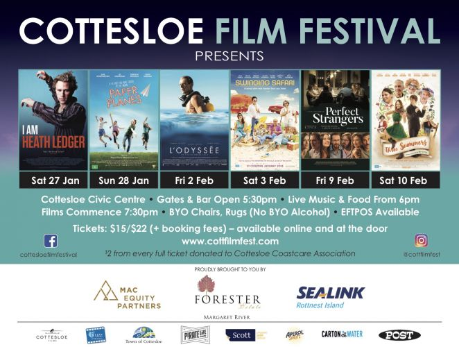 Cottesloe Film Festival – Opening Night I AM HEATH LEDGER