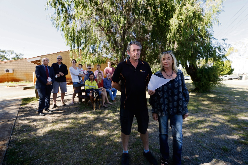 Simon Wheeler and Alison Gibbons have formed an action group with fellow residents who are unhappy with developments in Trigg, Karrinyup and Carine. Picture: Andrew Ritchie