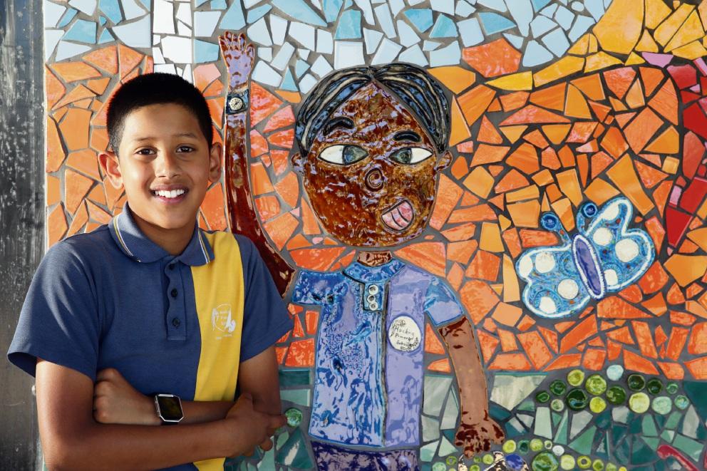 Year 5 student Nathan Jeyakumar.