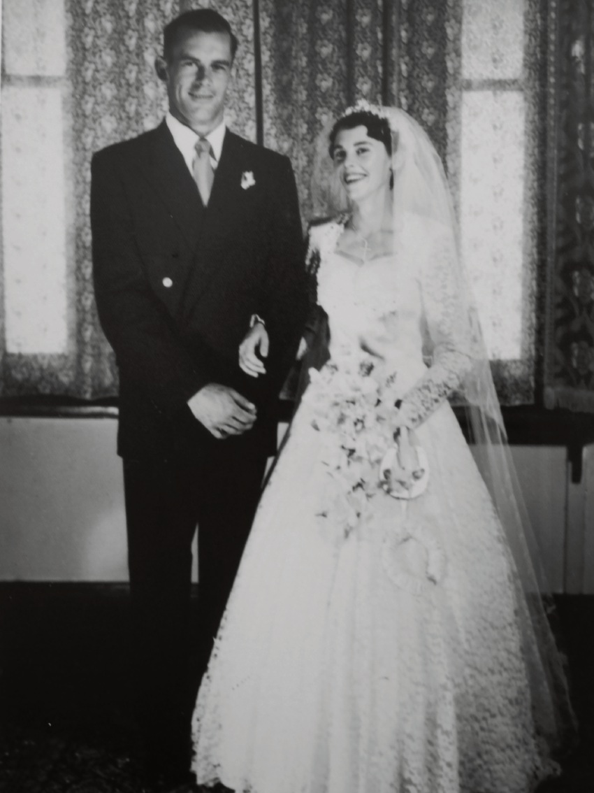 Geoff and Dawn Pickens on January 4, 1958.