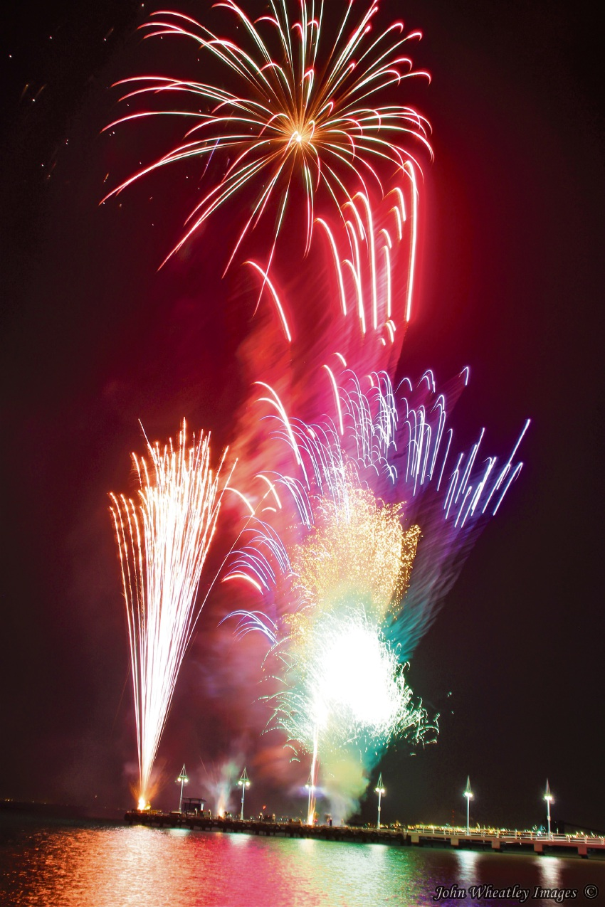Rockingham resident John Wheatley took this fantastic shot of the fireworks at the Rockingham Foreshore.