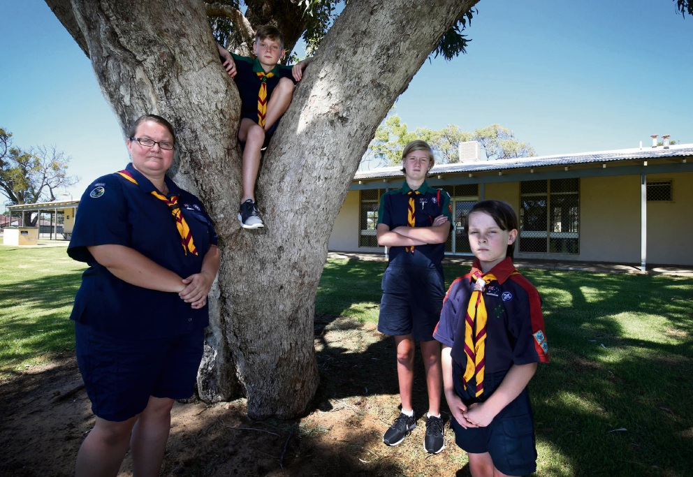 Cindy, Jesse, Jasmine and Leni Tams of the Falcon Scout Group are upset over a cut in funding Picture: Matt Jelonek www.communitypix.com.au d477921