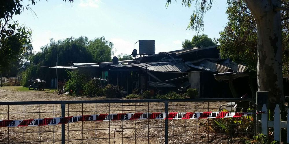 The house damaged overnight on King Road, Oakford. Picture: Ben Smith.
