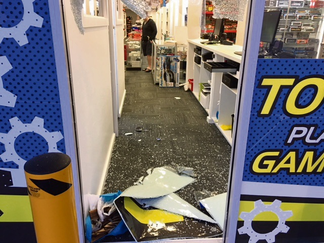 A picture taken by Hobbytech Toys owner Craig Hepburn after thieves raided his store last year.